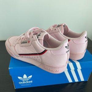 Pink adidas Continental 80
